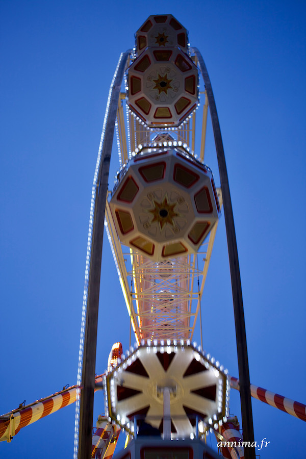 La grande roue de Noël à Poitiers