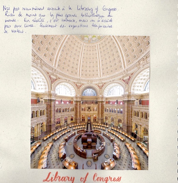 Carnet de voyage USA -Washington