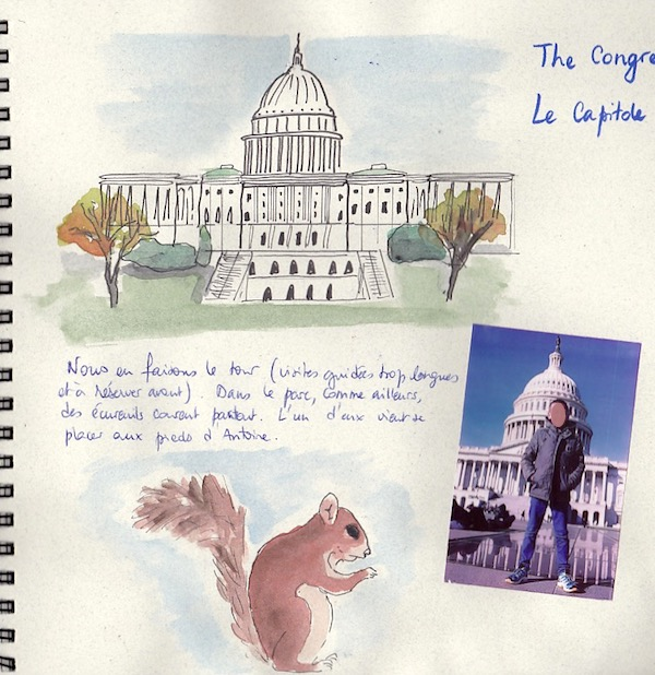 Carnet de voyage USA -Washington