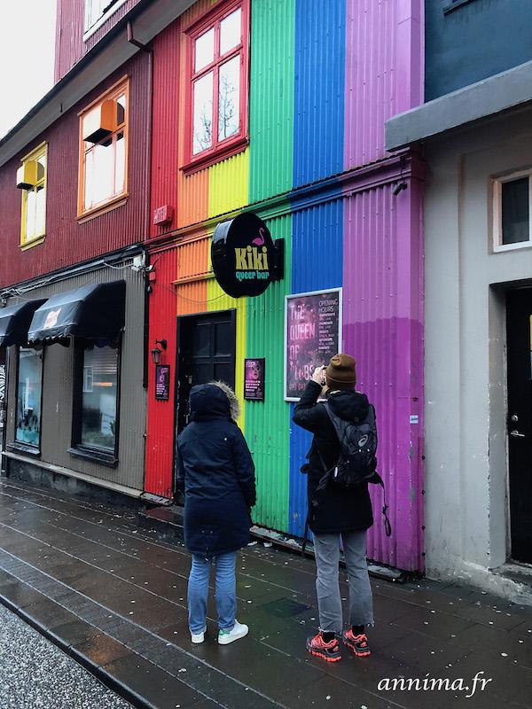 Street art et façades colorées de Reykjavik.treet artReykjavik