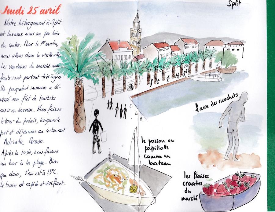 Carnet de voyage Split Croatie