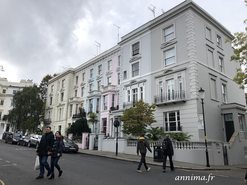 Londres : Notting Hill, Kensington et le fish & chips