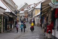 The cobbled streets on Szentendre
