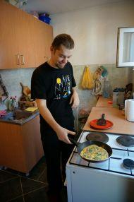Boris making Omelettes