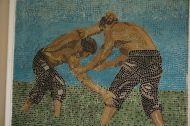 Annual week long oil wrestling tournament near Edirne