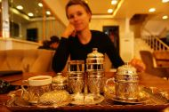 High tea with turkish delight