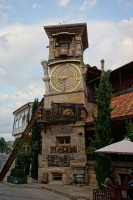 The wonky Tbilisi clock tower