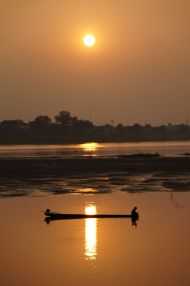 Sunset on the Mekong, Vientiane