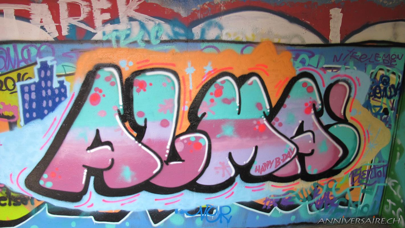 Annif graffiti Alma  Anniversaire en Suisse