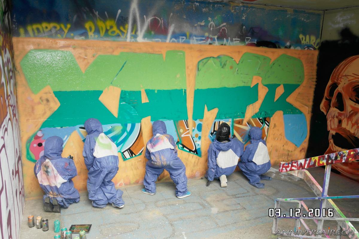 Anniversaire Graffiti Xavier  Anniversaire en Suisse