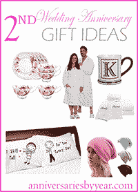 Ideas For 2nd Wedding Anniversary Gift Husband