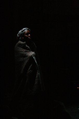Anniwaa Buachie as Monka in n 2007, critically acclaimed British theatre company Border Crossings collaborated with the vibrant prestigious National Theatre of Ghana to produce Amma Ata Aidoo's play Dilemma of Ghost.