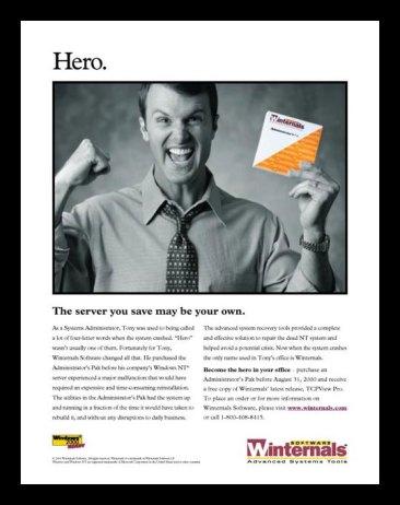 Winternals Software print ads