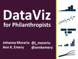 #JAGUnity2014: DataViz for Philanthropists