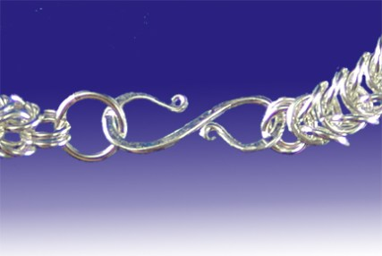 Hand-forged Sterling Silver Clasp