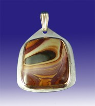 Jasper and Sterling Silver Pendant