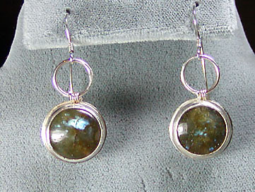 Labradorite and Sterling earrings