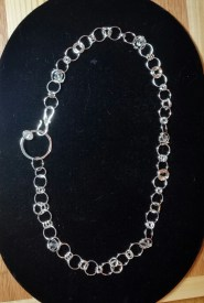 Sterling Silver Necklace with Cubic Zirconia and Swarovski Crystal