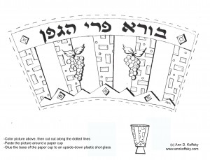 Kiddush Coloring Page