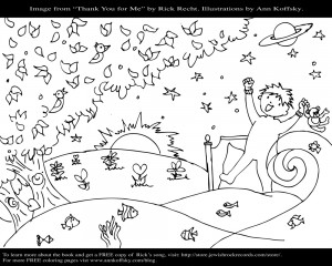 Thank You for Me! Coloring Page