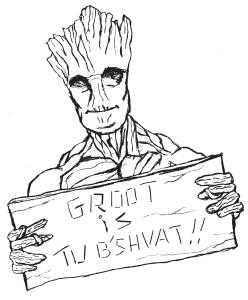 Tu B'shvat with Groot!