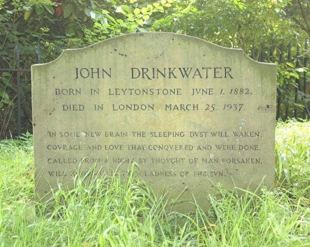 John Drinkwater headstone