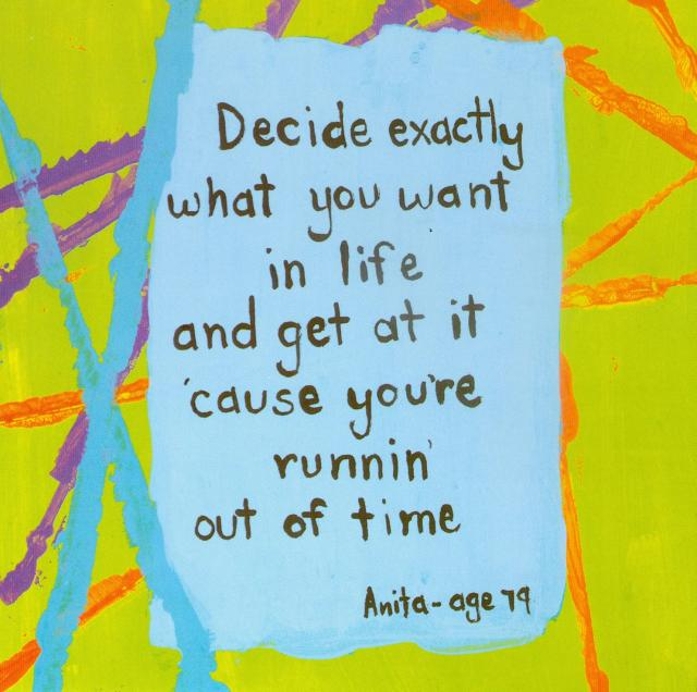 Decide exactly what you want in life