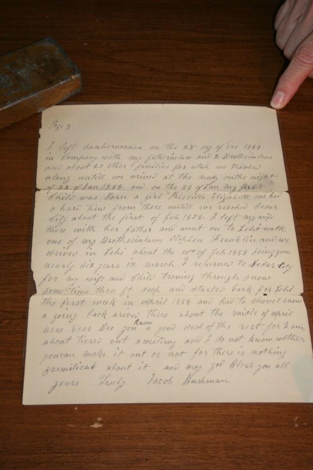 Bushman, Jacob Letter 1902 p. 3.