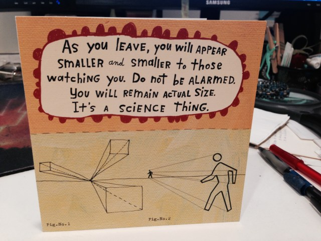 As You Leave card
