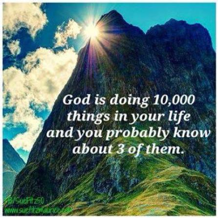 God is doing
