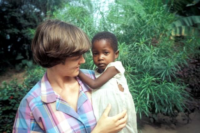 Ann with Bassey child in Eket