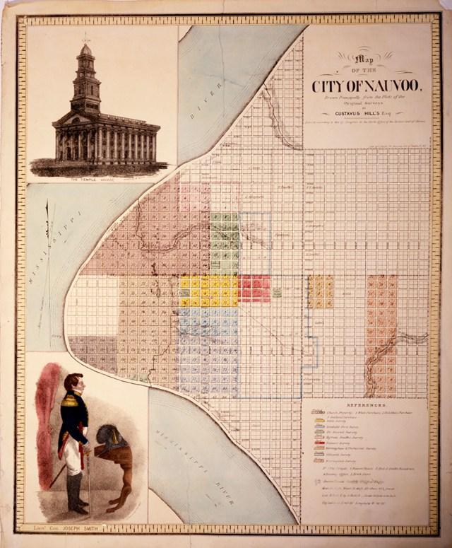 Nauvoo town plat map
