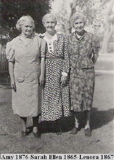 Barker sisters Amy, Sarah Ellen and Lenora