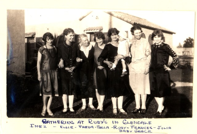 lundquist, elsie with friends in glendale