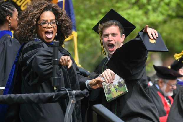 Oprah at a Graduation May 2019
