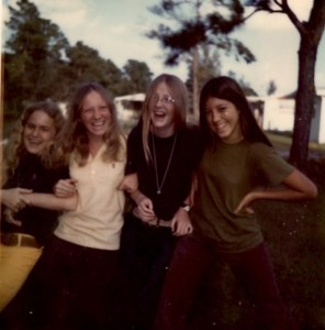 Mitzi, Denise, Tara, Aida in junior high, 1972