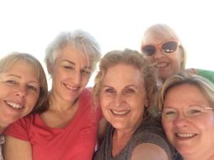 Me, Carolyn, Mitzi, Tara, Denise