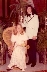 Me & John, prom, 1975