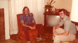 Dad and Jim the night they met, June 1980