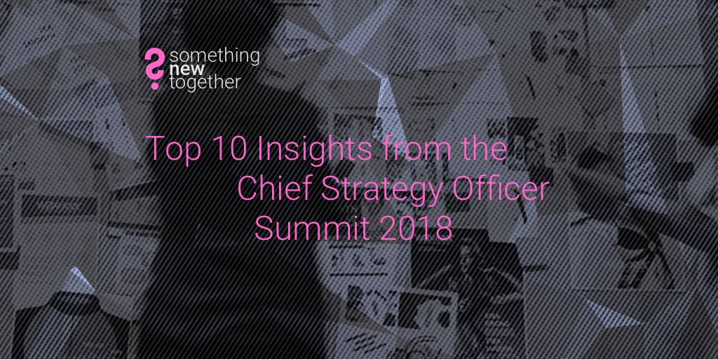 Chief Strategy Officer Summit 2018