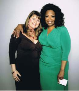 Pamela with Oprah