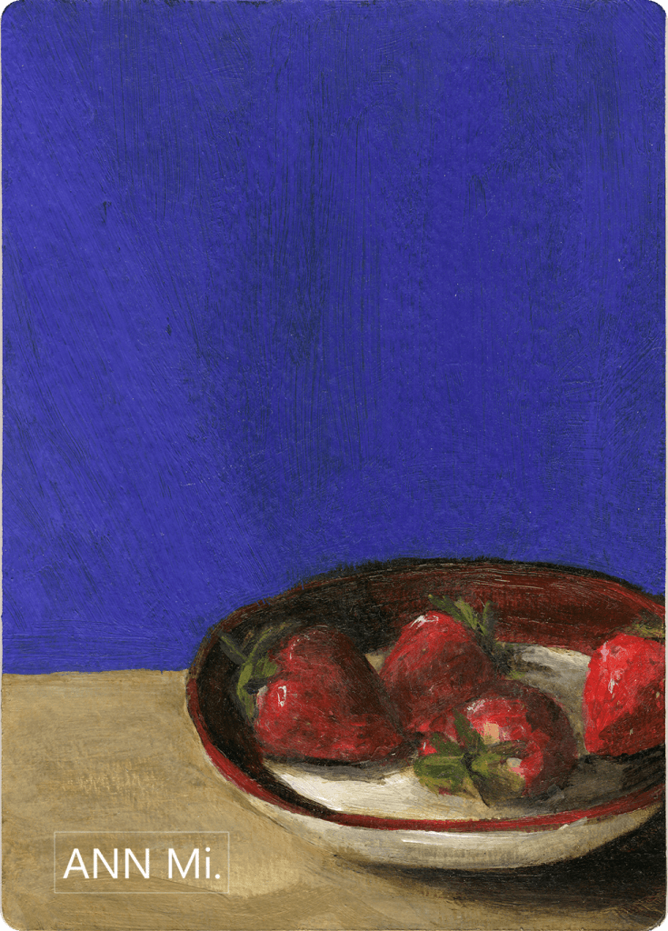 Strawberries on Bistro Plate, 2014