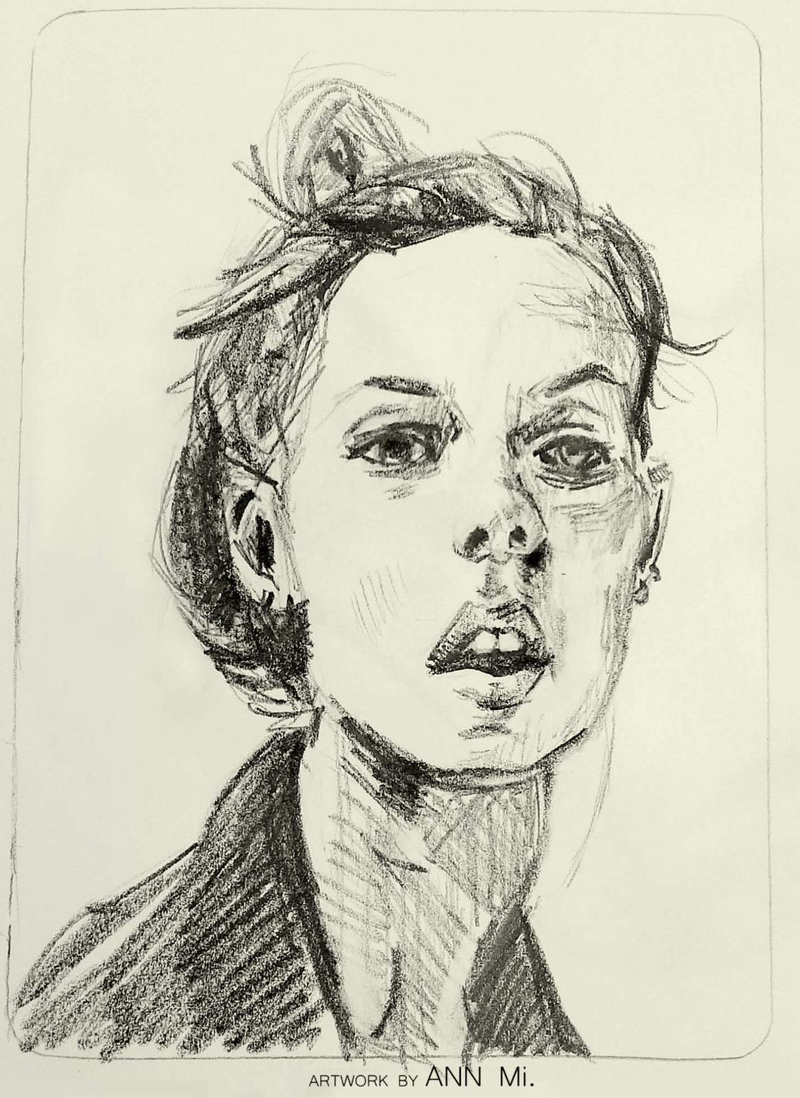 Quick sketch of young woman
