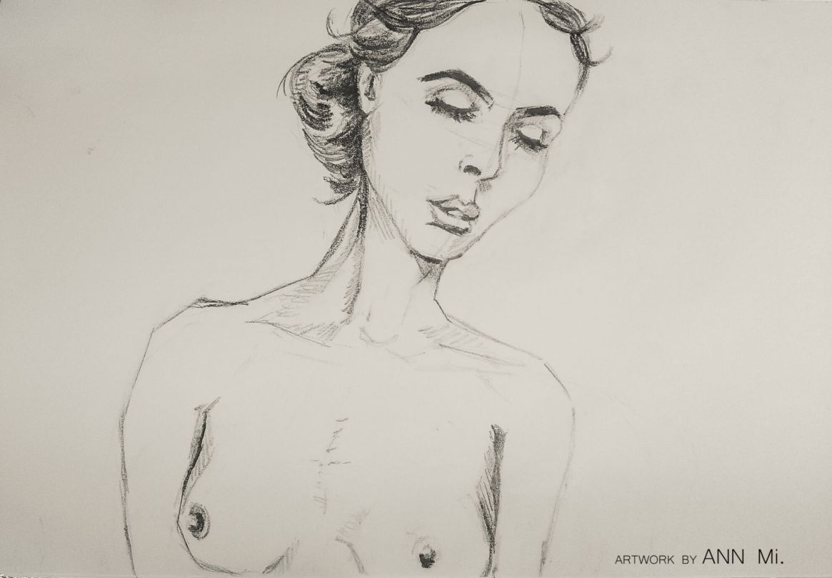 Female portrait sketch, 2016