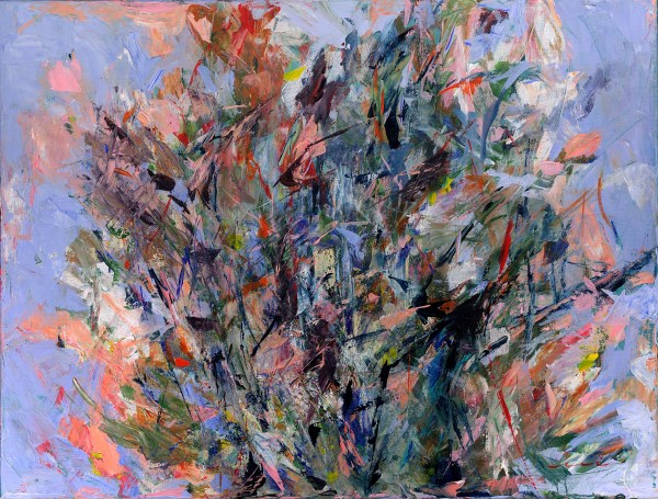 strong brushstrokes and knife marks abstract painting