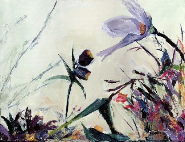 contemporary floral painting