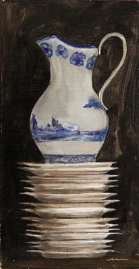 Pitcher on Stacked Plates, 2012