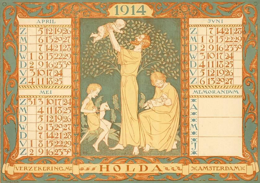 Zeldzame kalender van Henk Meijer