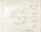 Robert Smithson, sketches, Broken Circle Spiral Hill, 1971
