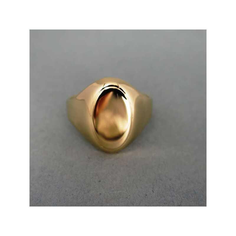 Goldener Ring fr Monogramm Siegelring fr Damen und